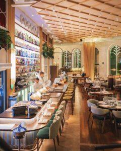 Photo of interior of fusion restaurant Umo, Paseo de la castellana, 43